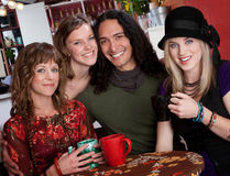 Four young friends Royalty Free Stock Image