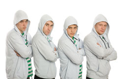 Four young guys Royalty Free Stock Image
