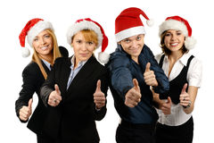 Four young and happy businesspersons Royalty Free Stock Photos