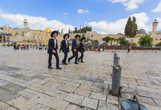 Four young Jews Stock Images