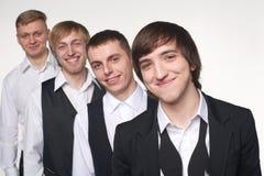 Four young men Royalty Free Stock Photos