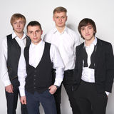 Four young men Stock Photography