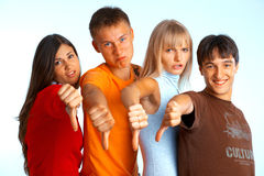 Four young people Royalty Free Stock Images