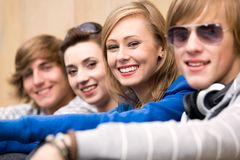 Four Young Teenagers Stock Photo