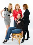 Four Young women Stock Photography
