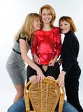 Four Young women Stock Images