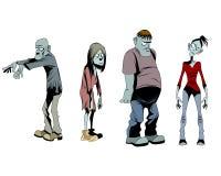 Four zombies set Stock Image