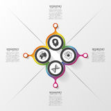 FourAbstract circles. Four option. Infographics design template. Vector illustration Royalty Free Stock Photos