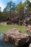 Fourche Maline dopływ w rabuś jamy stanu parku Zdjęcia Stock