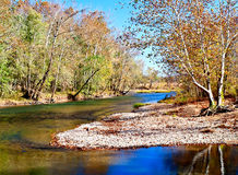 Fourche river. The upper end of Fourche river Royalty Free Stock Photo