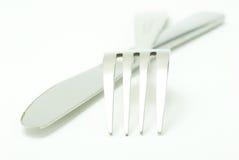 Fourchette avec la cuillère images stock