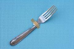 Fourchette cassée photo stock
