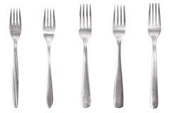Fourchette cinq différente Photos stock
