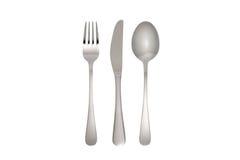 Fourchette, couteau et cuillère Image libre de droits
