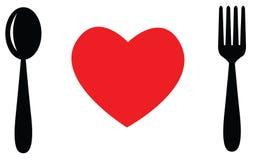 Fourchette d'amour de cuillère Images libres de droits