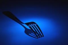 Fourchette dans le bleu Photos libres de droits
