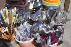 Fourchette de cuillère de couteaux d'appareils de cuisine image libre de droits