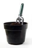 Fourchette de jardinage sur le bac photos libres de droits