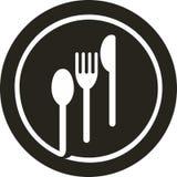 Fourchette de plaque, couteau, cuillère   photographie stock libre de droits