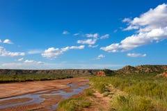 Fourchette de ville de chien de prairie de la rivière rouge photo stock
