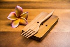 Fourchette en bois Photos libres de droits