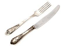 Fourchette et couteau image libre de droits