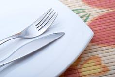 Fourchette et couteau Photographie stock libre de droits