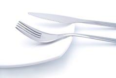 Fourchette et couteau Photos libres de droits
