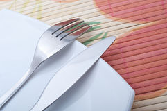 Fourchette et couteau Photo stock