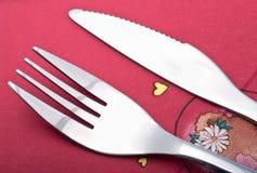 Fourchette et couteau Photo libre de droits