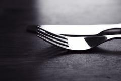 Fourchette et couteau Photos stock
