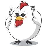 Fourchette et couteau de poulet Photos libres de droits