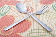 Fourchette et cuillère Photo stock