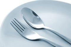 Fourchette et cuillère images stock