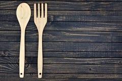 Fourchette et cuillère sur la table photos stock