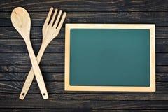 Fourchette et cuillère sur la table images libres de droits