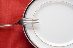 Fourchette et plaque Image stock