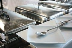 Fourchette et plaque Images stock