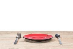 Fourchette et plat de cuillère sur la table Photos stock