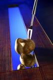 Fourchette et potiron images stock
