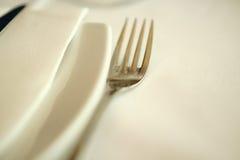 Fourchette et serviette Images libres de droits