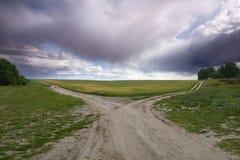 Fourchette rêveuse de route Photos libres de droits