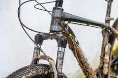 Fourchette sale de suspension de bicyclette Photographie stock libre de droits