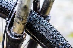 Fourchette sale de suspension de bicyclette Images stock