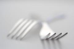 Fourchettes argentées Photo stock
