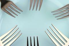 fourchettes bleues de paraboloïde Image libre de droits