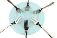 fourchettes bleues de paraboloïde Photos libres de droits
