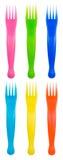 Fourchettes colorées Photos stock