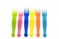fourchettes en plastique Photos libres de droits