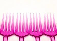 Fourchettes en plastique Photographie stock